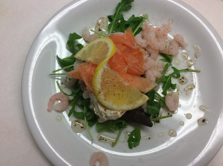 Salmon and Prawn Starter