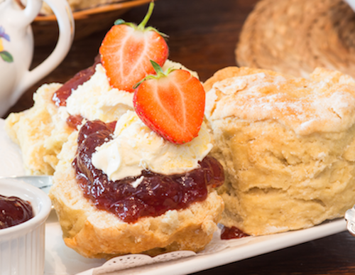 An Image of Our Delicious Cream Tea - Click Here for Our Menu Page