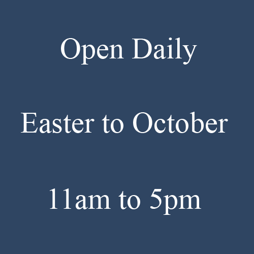 Open Daily, Easter to October, 11am to 5pm