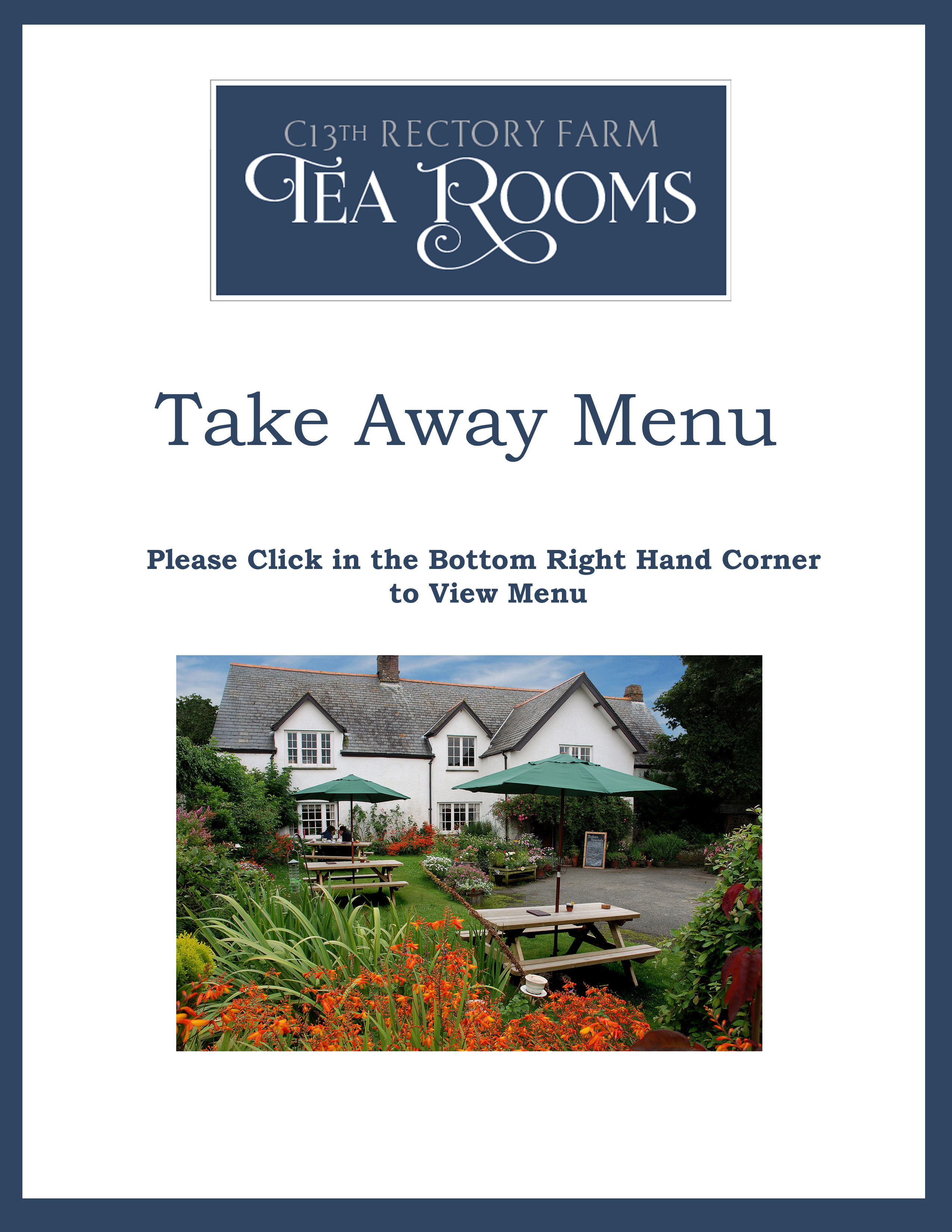 Click Here to View an Online Version of Our Menu.