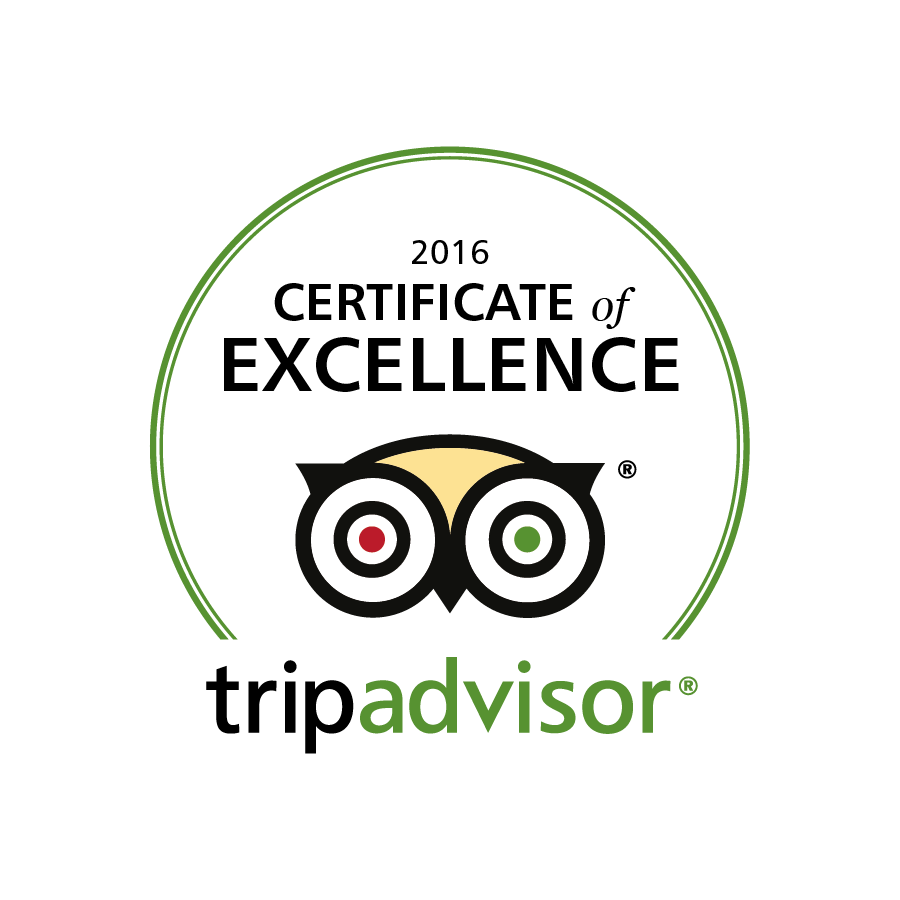 Trip Advisor Certificate of Excellence 2016 Logo